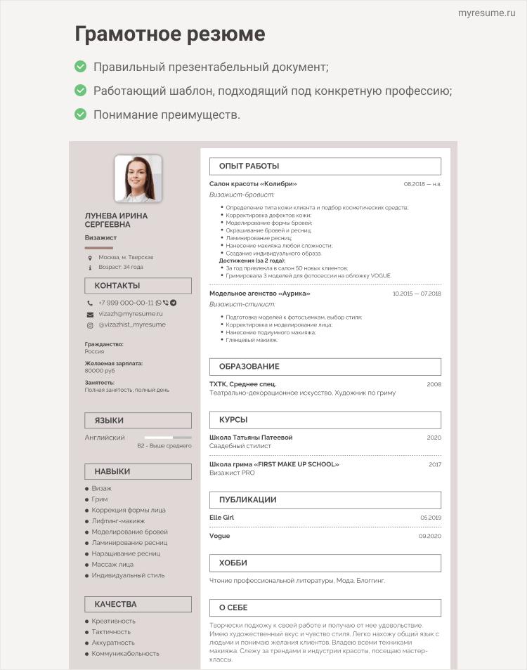 составление анкет на работу